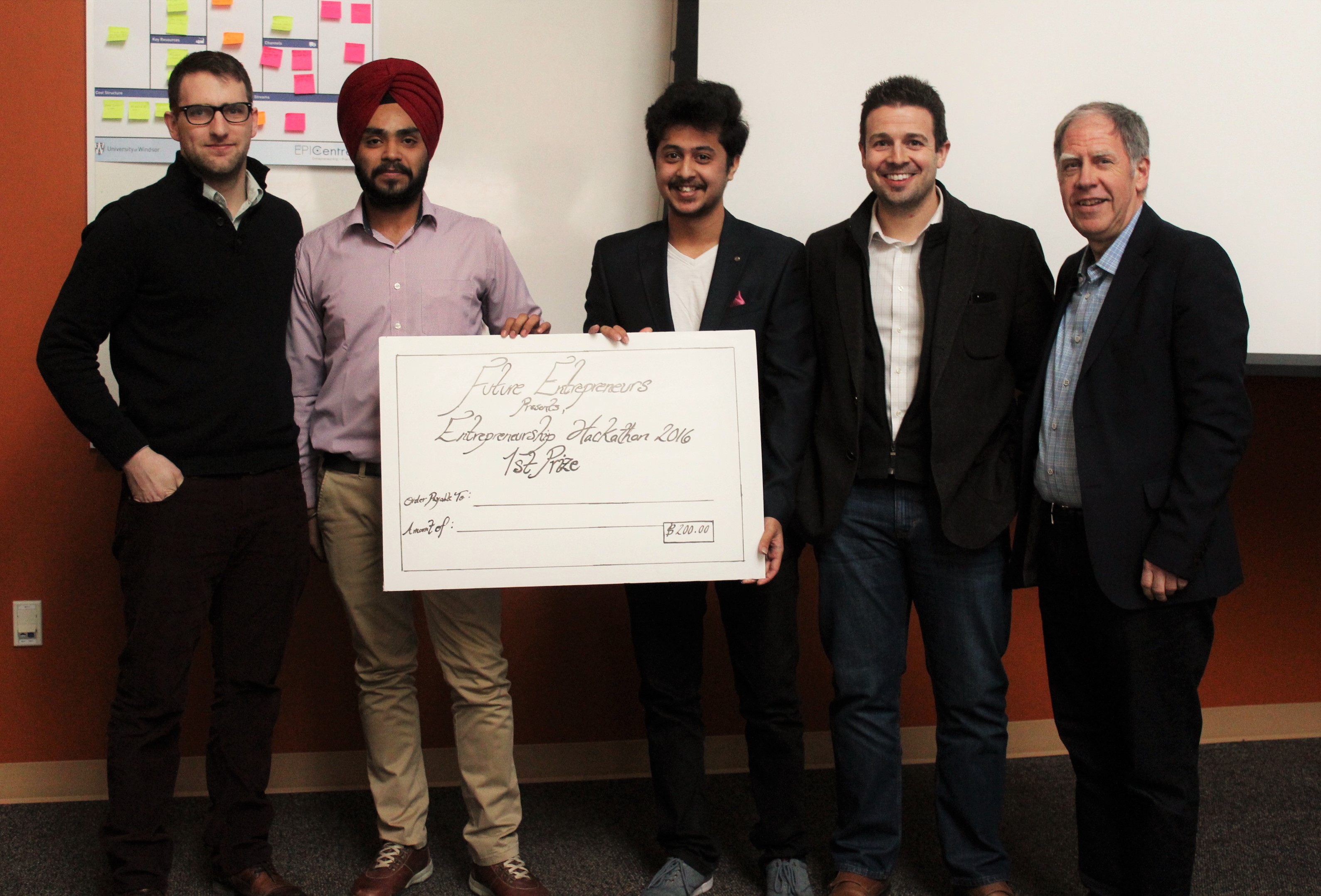 Entrepreneurship Hackathon Winning Team