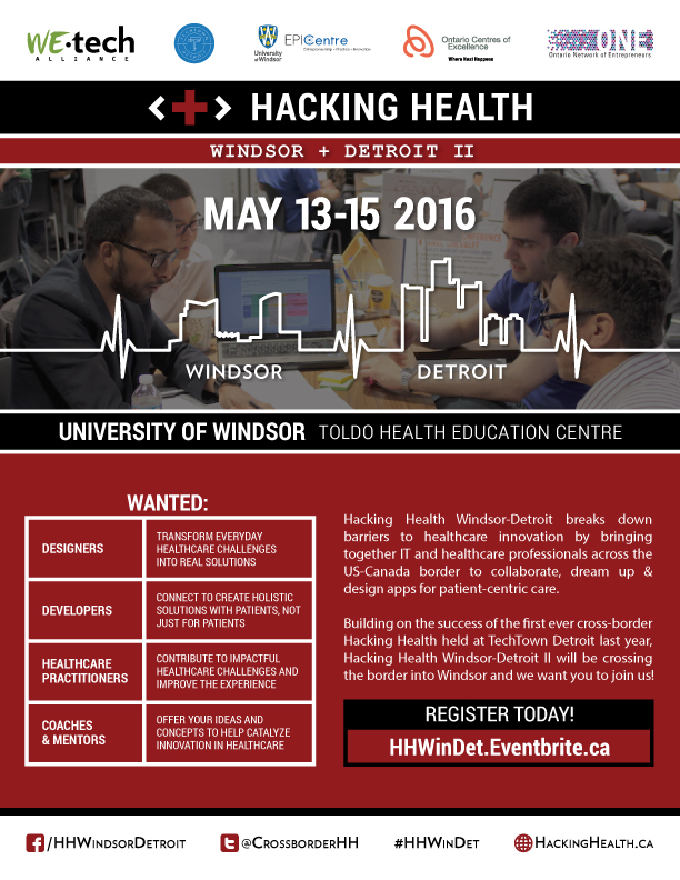 Hacking Health Windsor-Detroit 2016 Promo